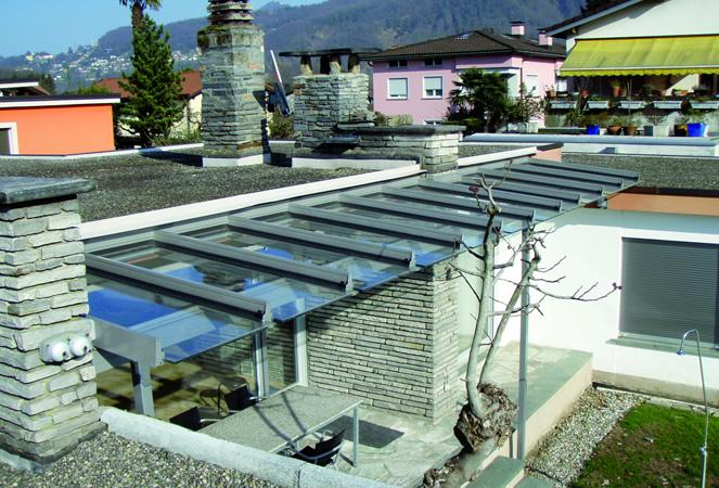 Giardini d'inverno e Pergolati in vetro con tettoie fisse e mobili  Frubau e Stobag a Torino ...