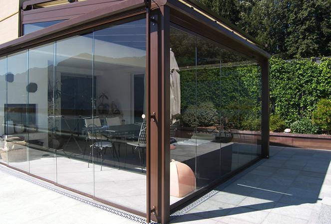 Chiusura terrazzo vetro - Fapir piastrelle carate brianza ...